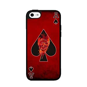 Ace of Spade - 2-Piece Dual Layer High Impact Phone Case Back Cover (iPhone 4/4s)