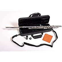 Herche Superior Flute FL-297 - Best for Students - Durable Silver Plated Keys - Plush Lined Flute Case with Shoulder Strap - Split E Mechanism - Treated Pads - Silver Plated Body - Cleaning Rod