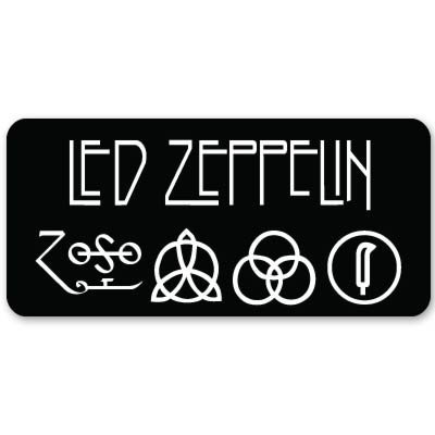 - Led Zeppelin heavy metal ZOSO Vynil Car Sticker Decal - 5