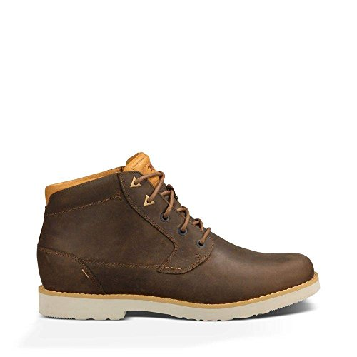 Teva Men's Durban Leather Chukka Boot, Bison, 11 M US