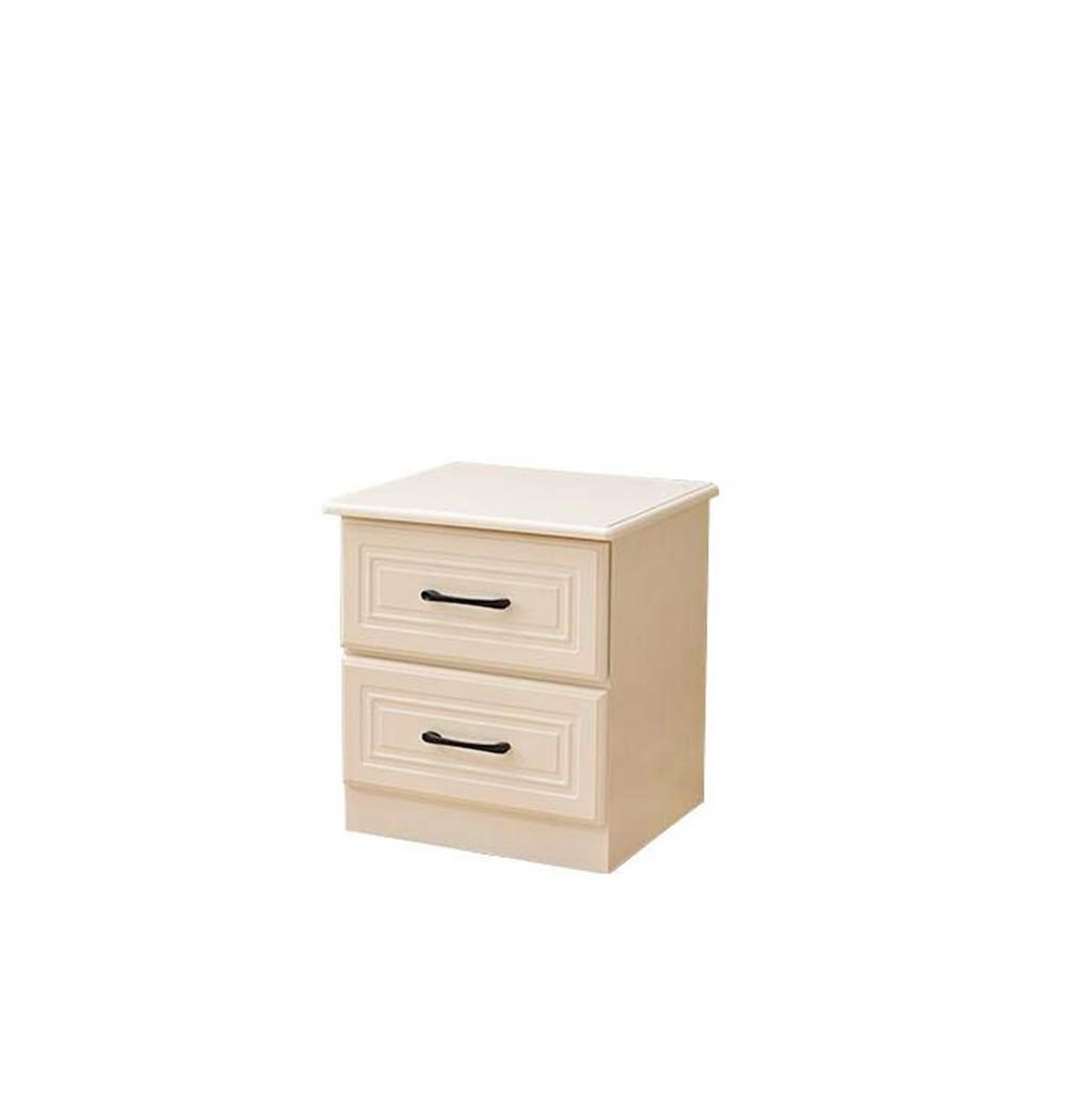 QRFDIAN Nachttisch, Lagerung, Lagerung, einfaches, modernes Massivholz, einfaches Bett, Kleiner Schrank, Mini-Schlafzimmer Nachttisch Tisch (Farbe : Beige)