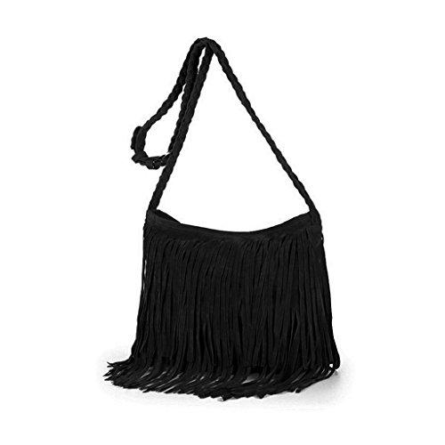 Handbag Messenger Fringe Women Wanfor Purse Tassel Leather Bag Shoulder Faux Crossbody Suede Tote zvvq6U