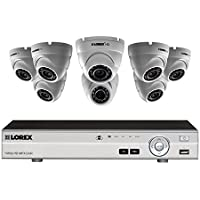 8 channel HD 1080p DVR with 8 night vision security cameras