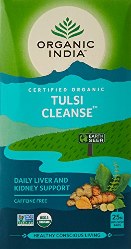 Organic India Tulsi Cleanse, 25 Tea Bags (Tulsi Cleanse Daily Liver & Kidney Support)
