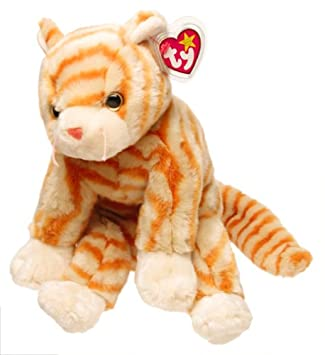 TY Amber the Gold Tabby Beanie Buddy 12