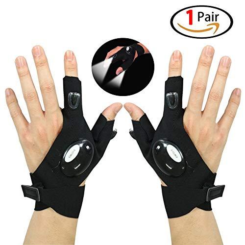Originalidad Gloves LED Light LED Lamp Cycling Gloves Flashlight LED Flashlight for Repairing/Working/Fishing/Camping, 1Pair -