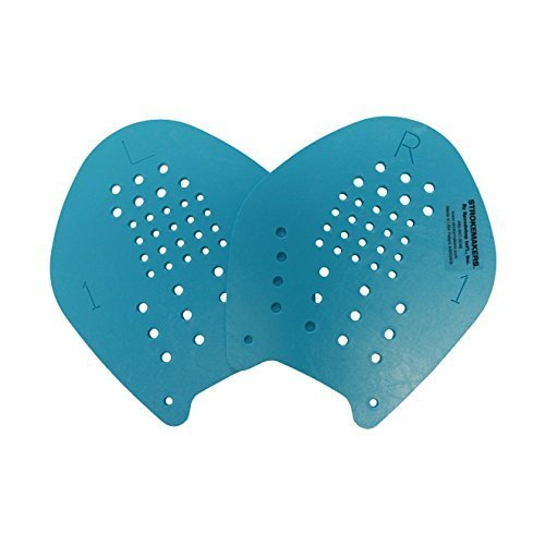 Strokemaker Swimming Hand Paddles (Azure Blue - Size - Paddle Size