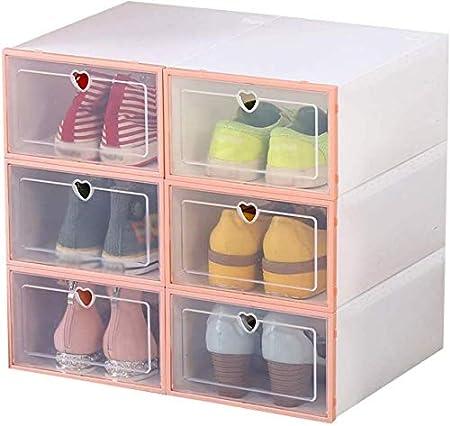 Organizador de Calzado/Zapato Gabinete Mujer de Almacenamiento de plástico gaveta Zapato Dormitorio de la Caja plástica del Estante Interior del Armario (Color : Pink): Amazon.es: Hogar