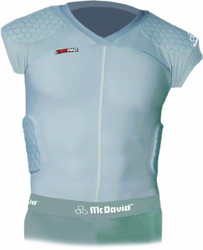 McDavid HexPad 5 Pad Capped Sleeve Body Shirt (Grey, Medium)