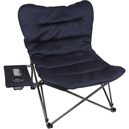 Superb Lightweight Portable And Durable Ozark Trail Oversized Plush Chair With Attached Side Table Perfect For Outdoor Activities Picnics Fishing Pabps2019 Chair Design Images Pabps2019Com
