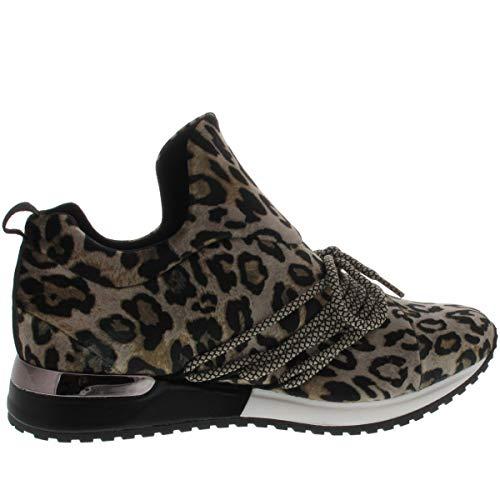 Femme Strada Basses La Velvet Leopard Sneakers n7XcP4RP