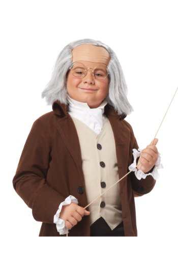 Benjamin Child Costumes Franklin (California Costumes Benjamin Franklin Wig Child Costume,)