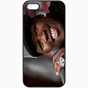 Personalized iPhone 5 5S Cell phone Case/Cover Skin 50 Cent Man Smile Ring Microphone Black