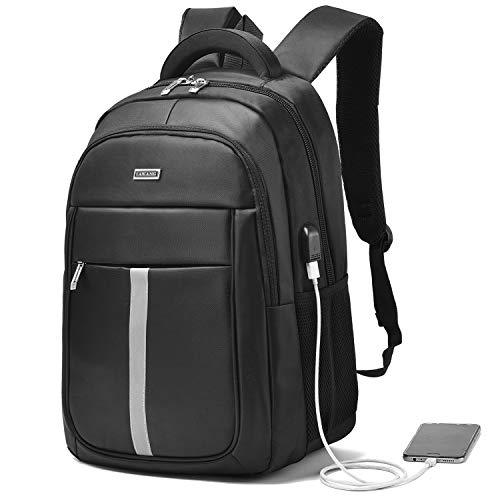 Travel Laptop Backpack Water Resistant Bag with USB Charging Port 15 Inch Computer Backpacks