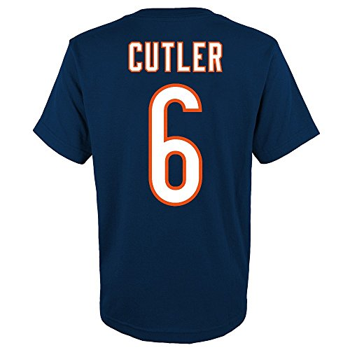 Outerstuff Jay Cutler NFL Chicago Bears Player Jersey T-Shirt w/Team Logo Youth ()