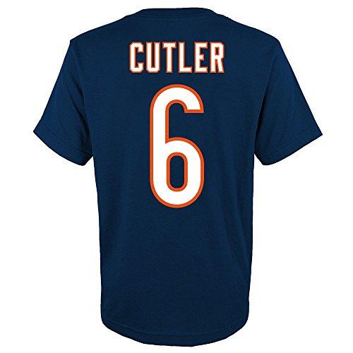 Jay Cutler Shirt - Outerstuff Jay Cutler NFL Chicago Bears Player Jersey T-Shirt w/Team Logo Youth (S-XL)