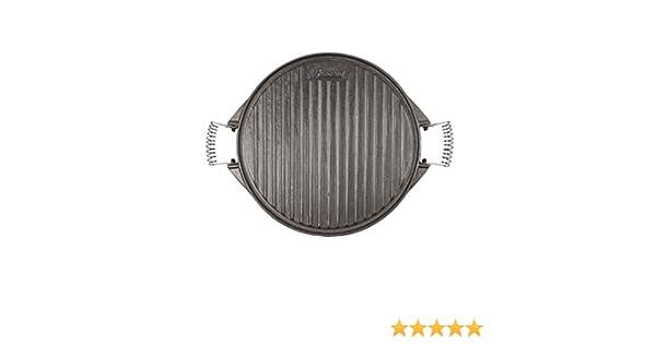 Algon AH53 Plancha de Cocina, 32 cm de diámetro, con Doble Cara, Hierro: Amazon.es: Hogar