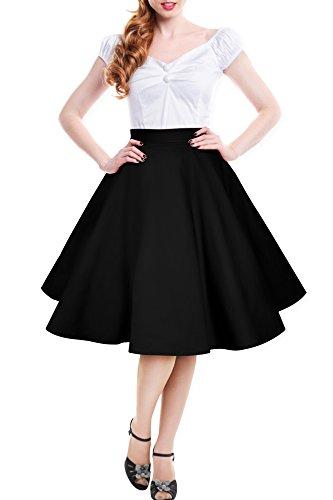 Black-Butterfly-Vintage-Full-Circle-1950s-Skirt