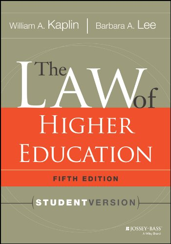 Pdf Teaching The Law of Higher Education, 5th Edition: Student Version
