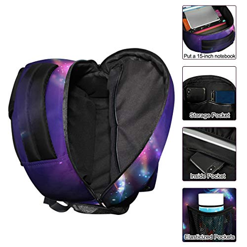 ZZKKO Rainbow Unicorn Abstract Art Boys Girls School Computer Backpacks Book Bag Travel Hiking Camping Daypack