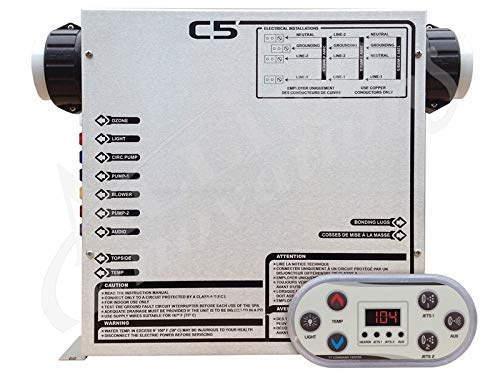 United Spas Control: C5-T 240V with 5.0Kw Heater and Topside (United Spas)