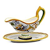 RAFFAELLESCO DELUXE Gravy Sauce Boat with Tray