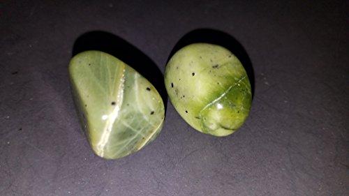 (#4) 2pc Set of Polished Green Jade Nephrite Medium / Large