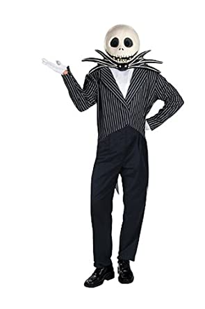 Jack Skellington Adult Halloween Costume XL  sc 1 st  Amazon.com & Amazon.com: Jack Skellington Adult Halloween Costume XL: Disguise ...