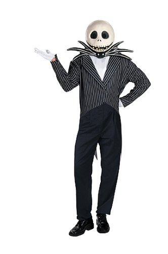 amazoncom jack skellington adult halloween costume xl clothing - Halloween Jack Costume