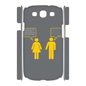 3D Samsung Galaxy S3 Case Women Logic, [White]