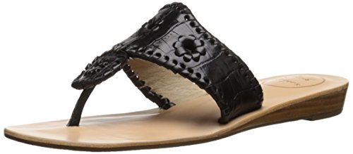 Jack Dress Rogers Cara Women's Crocodile Sandal Black 8S4r8qx