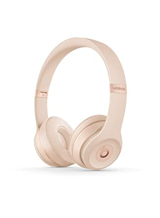 72b6e45d8e3e Image Unavailable. Image not available for. Color  Beats Solo3 Wireless On-Ear  Headphones - Matte Gold