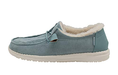 Hey Dude Women's Wendy Corduroy Aqua, Size 10 by Hey Dude