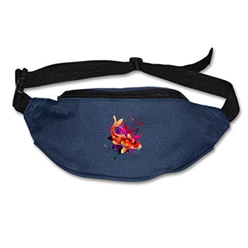 MXYG Color Koi Fish Waist Pack Bag Fanny Pack for Men&Women Hip Bum Bag with Adjustable Strap for Outdoors Workout Traveling