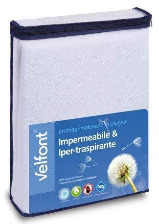 Velfont – Proteggi Materasso in Spugna Impermeabile e Iper-Traspirante – Singolo 1PIAZZA (80 x 190/200 cm) Prezzi offerte