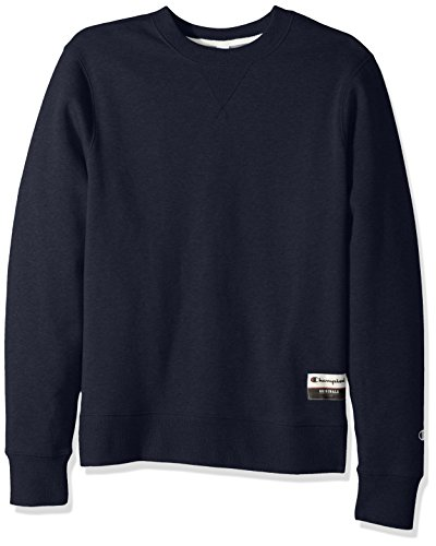 - Champion Men's Authentic Originals Sueded Fleece Sweatshirt, Navy Heather Large