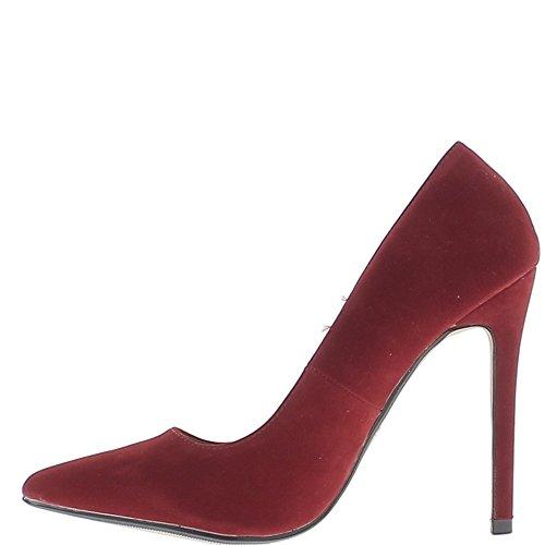 Rote Heels Pumpen Nadel 11,5 cm Spitzen scharfen Aspekt Wildleder