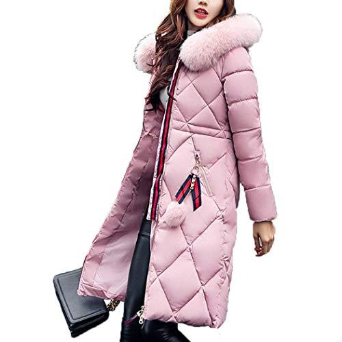 Betrothales Abrigos Tallas Parkas Elegantes Largos Rosa Calie Grandes Invierno Mujer r16wqrTBZx