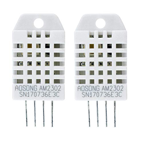 Pack of 2Pcs DHT22 / AM2302 Digital Temperature and Humidity Sensor Replace SHT11 SHT15 for Arduino and Raspberry Pi