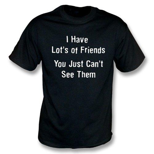 TshirtGrill Ich habe viele Freunde… T-Shirt, Farbe- Schwarzes