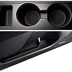 Custom Fit Cup and Door Liner Acessories for Subaru Outback and Legacy 2015 2016 2017 2018 2019 16PC Kit (Gray Trim)