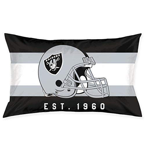 Marrytiny Custom Rectangular Pillowcase Colorful Oakland Raiders American Football Team Bedding Pillow Covers Pillow Cases for Sofa Bedroom Bedding Car Home Decorative - 20x30 Inches