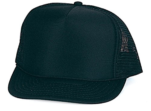 SSC-Y/SPC- Y BOYS GIRLS YOUTH KIDS SIZE NEW CLASSIC BLANK FOAM MESH TRUCKER CAPS (SSC-Y 003 (Foam Classic Mesh Truckers Cap)