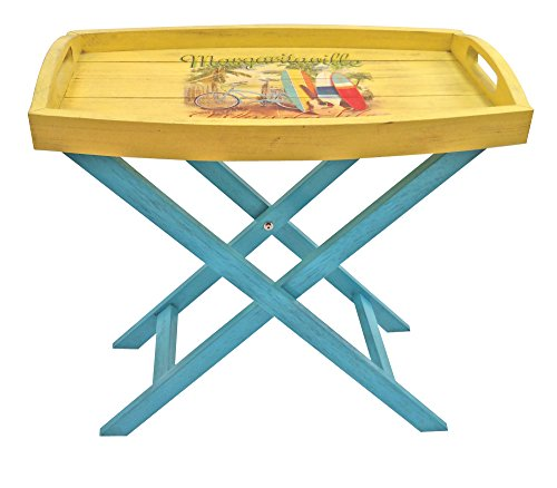 "Margaritaville Outdoor ""Island Life Butler Table - Constructed using Forest Stewardship Council (FSC) Poplar Wood Finished with 7 layers of quality Sherwin-Williams paint Margaritaville Parrot in Hammock logo - patio-tables, patio-furniture, patio - 41JTWwA24%2BL -"