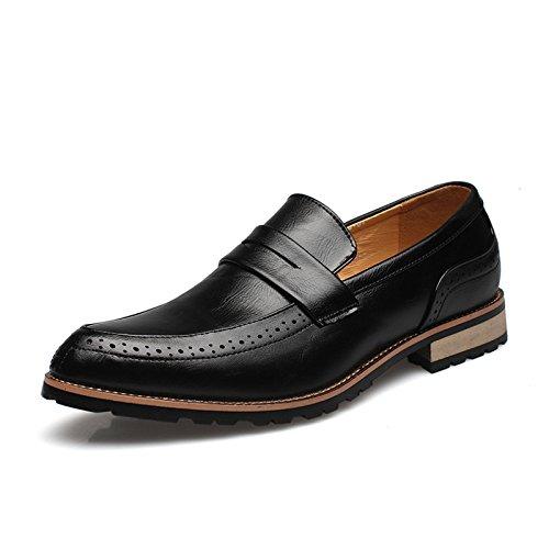 Mode Dentelle Chaussures la Chaussures Hommes Black ZFNYY D'affaires Robe Pointu Hommes de Chaussures pour Rétro Pieds Occasionnels xwPR4RqO