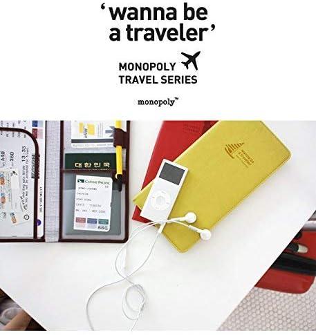 Monopoly Journey No Skimming Ver.2 Funda de Pasaporte, 23 cm, Rojo: Amazon.es: Equipaje