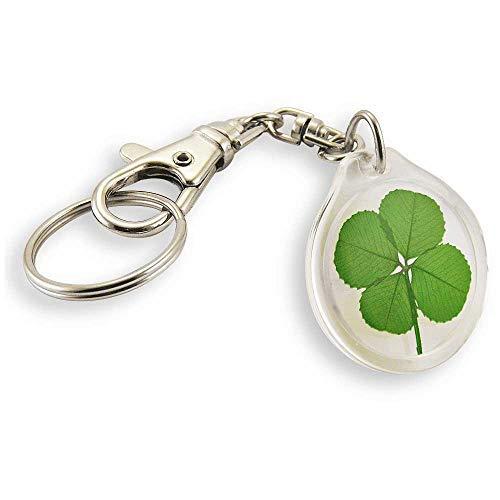 - Clovers Online Genuine Four Leaf Clover Trigger Snap Keychain