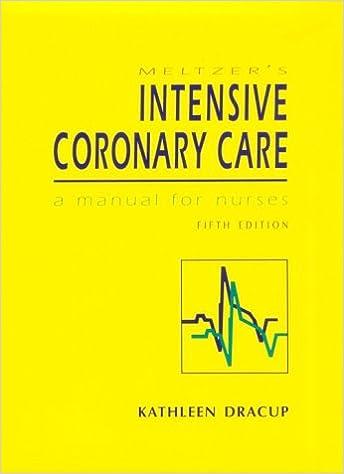 Meltzer's Intensive Coronary Care: A Manual for Nurses (5th