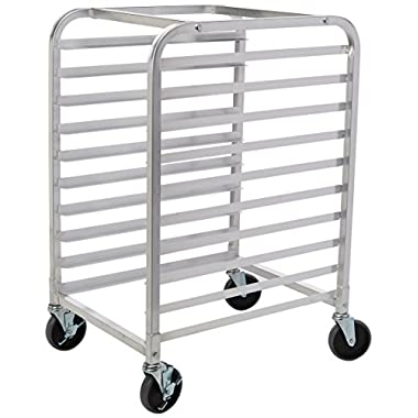 New Star 1 pc Commercial Kitchen 10 Tier Bun Pan Rack Sheet Pan Rack with Brake Wheel