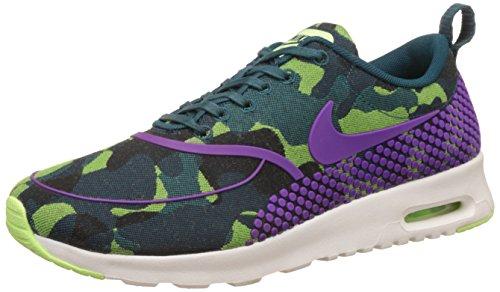 Nike Air Max Thea JCRD PRM, WoMen Running Shoes TEAL/VIVID PURPLE-GHOST GREEN-SL